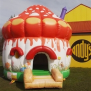 Elves Mushroom Bouncy Castle Weekend Hire $200.00