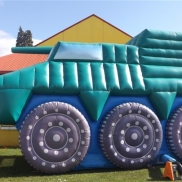 Army Tank Bouncy Castle with slide inside Weekend Hire $270.00
