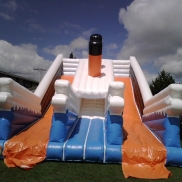Titanic Giant Bouncy Castle with Slide, Corporate Hires:  Weekend Hire: $500