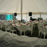 12m x 12m Electron Marquee, Lined Ceiling