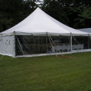 12m x 12m Electron Marquee, Clear Windows