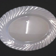 Platters Oval White