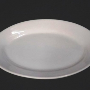 Platter Oval White China